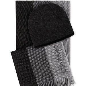 Calvin Klein Men's Hat & Ombré Scarf Set
